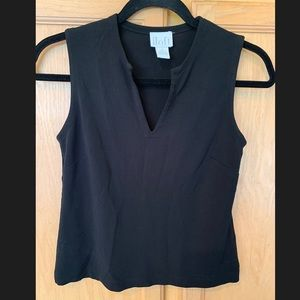 Ann Taylor Loft Black V neck Tank Top Small